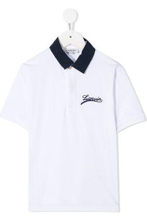 Lanvin Playera tipo polo con logo bordado