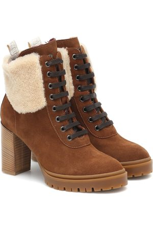 Bogner Mujer Botines - Sofia suede and shearling ankle boots