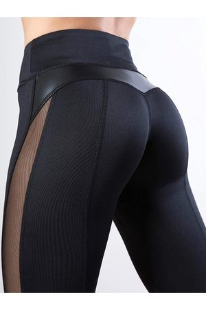 YOINS High-Waisted Faux Leather Sporty Leggings