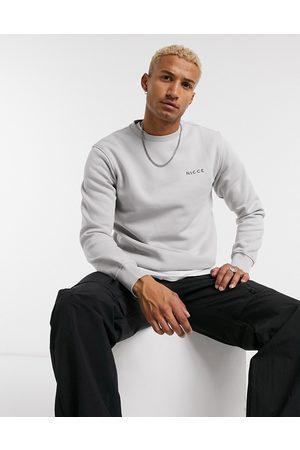 Nicce London Chest logo sweatshirt in grey