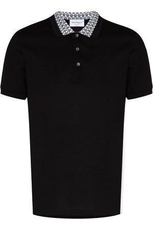 Salvatore Ferragamo Gancini collar cotton polo shirt