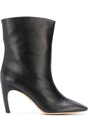 GIA Atena square-toe ankle boots