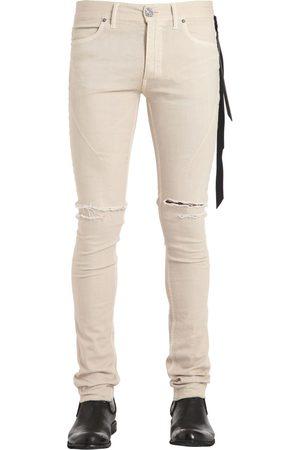 "SEIGEKI Jeans De Denim Beige ""skinny Vanilla"" 16cm"