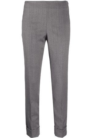 PESERICO SIGN Cropped slim-fit trousers