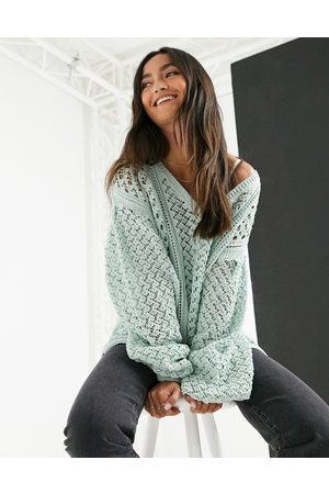 In The Style X Lorna Luxe knitted jumper in green