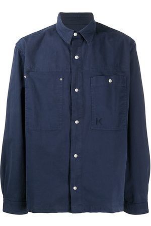 Kenzo Embroidered logo buttoned shirt