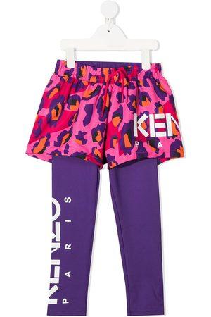 Kenzo Animal-print 2-in-1 leggings
