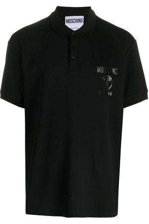Moschino Playera tipo polo con motivo Double Question Mark