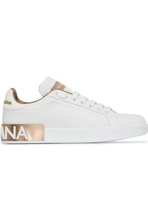 Dolce & Gabbana Mujer Tenis - White Portofino leather logo sneakers