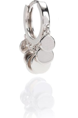 JACQUIE AICHE Mini Disco Shaker Hoop 14kt white gold single earring