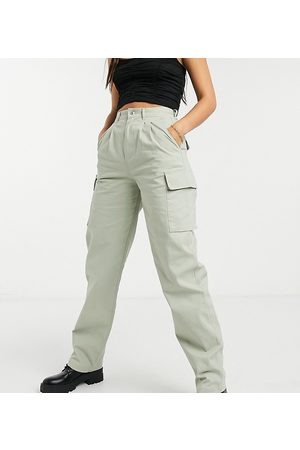 ASOS ASOS DESIGN Tall pleat front chino with cargo pockets in sage