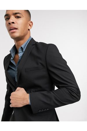 Selected Suit jacket with stretch in slim fit black
