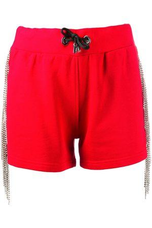 Philipp Plein Mujer Shorts - Shorts deportivos con detalles de cristal