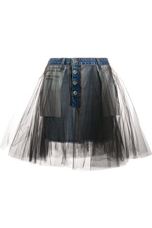 Unravel Project Falda con sobrecapa de tul