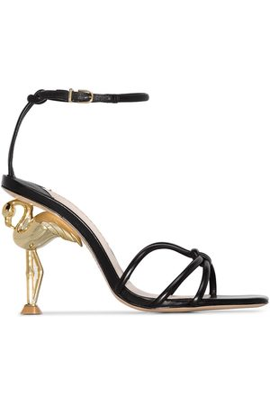 SOPHIA WEBSTER Black Flamingo 100 leather sandals