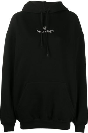 Balenciaga Embroidered logo hooded sweatshirt