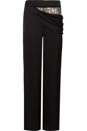 MONSE Pantalones drapeados con lentejuelas