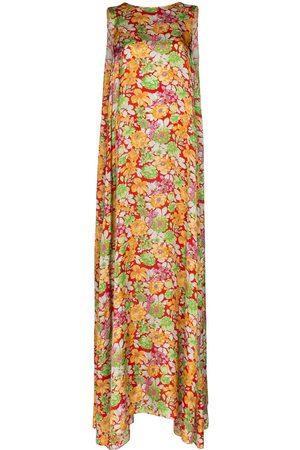 Plan C Vestido largo con estampado floral