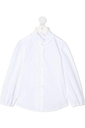 Il gufo Camisa con dobladillo redondeado
