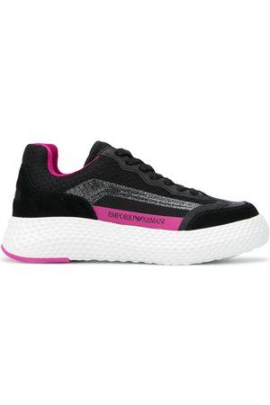 Emporio Armani Platform logo print sneakers