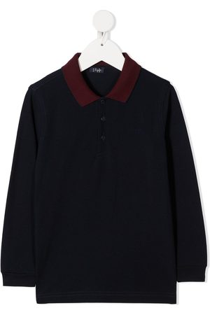 Il gufo Two-tone long-sleeved shirt