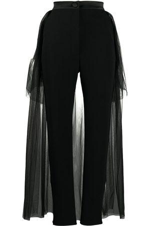 LOULOU Pantalones con capa de tul