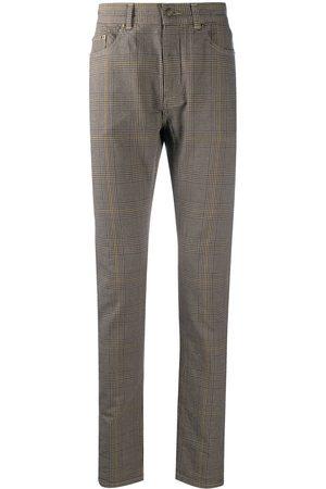 Saint Laurent Pantalones skinny con motivo de microcuadros