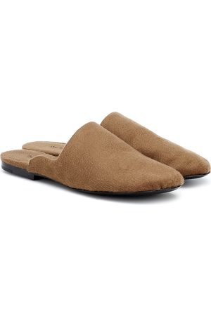 The Row Mujer Zuecos - Granpa cashmere slippers