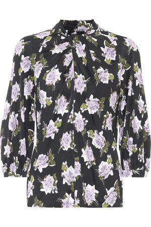 Erdem Arlette floral jersey blouse