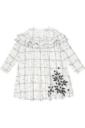 Tartine Et Chocolat Niña Cortos - Embroidered checked cotton-blend dress