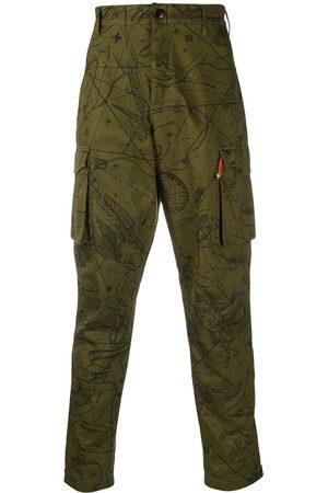 Givenchy Pantalones cargo con motivo astral