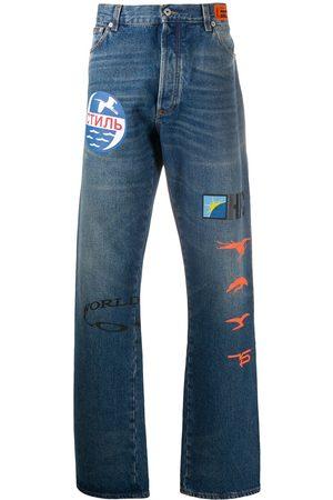 Heron Preston Jeans bootcut con estampado gráfico