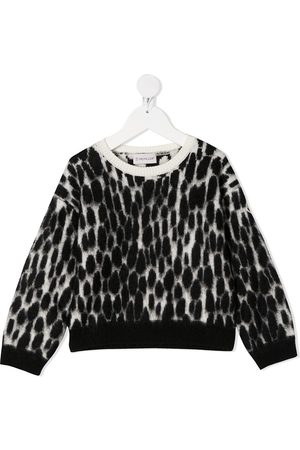 Moncler Brushed knit speckle print jumper