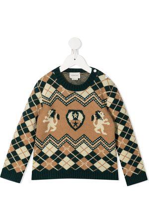 Gucci Suéteres - Suéter tejido con motivo de rombos