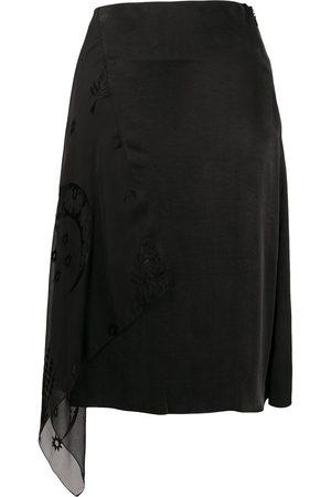 Marine Serre Mujer Faldas - Falda asimétrica a capas