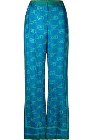 Alberta Ferretti Pantalones anchos con monograma