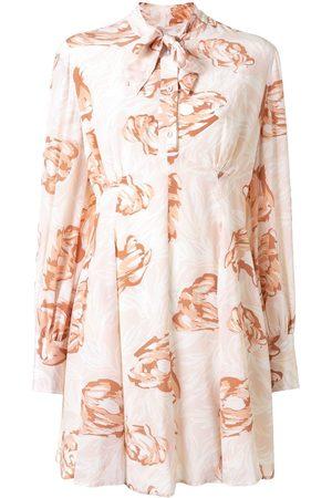 Karen Walker Gardenesque floral-print silk dress