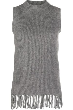 Paco rabanne Fringed sleeveless knit top