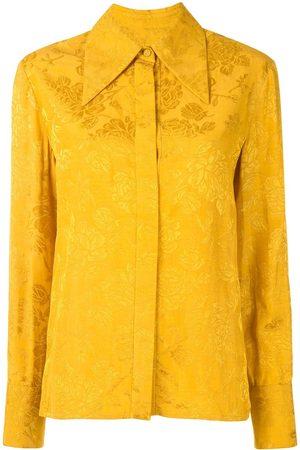 Karen Walker Camisa con motivo floral en jacquard