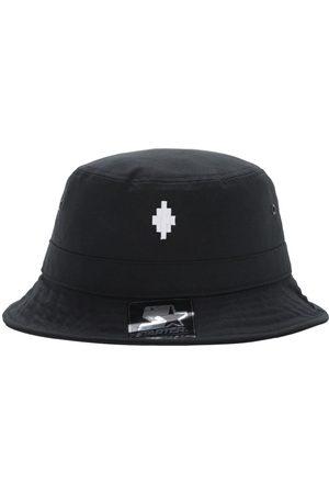 MARCELO BURLON Hombre Sombreros - Starter Cross Logo Canvas Bucket Hat