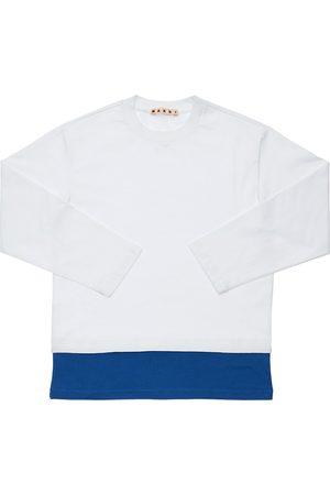 Marni Camiseta De Algodón Jersey Con Logo