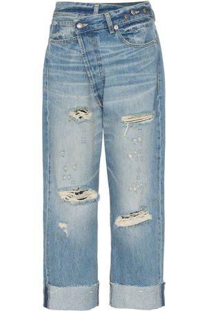 R13 Mujer Jeans - Jeans boyfriend con lazo en la cintura
