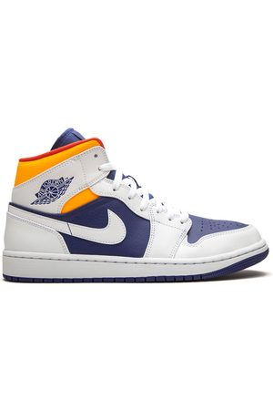 "Jordan Air 1 Mid ""Royal Blue/Laser Orange sneakers"