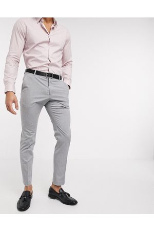 Selected Suit trouser with stretch in slim fit light grey