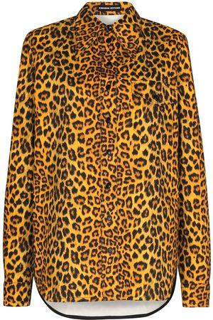 Kwaidan Editions Leopard-print denim shirt
