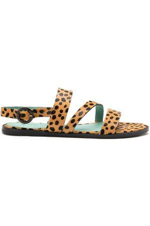 Blue Bird Shoes Sandalias con estampado de leopardo