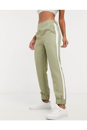 ASOS Tailored jogger with contrast side in sage