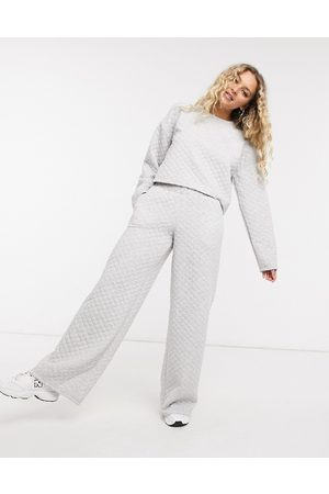 Noisy May Quilted wide leg trouser co