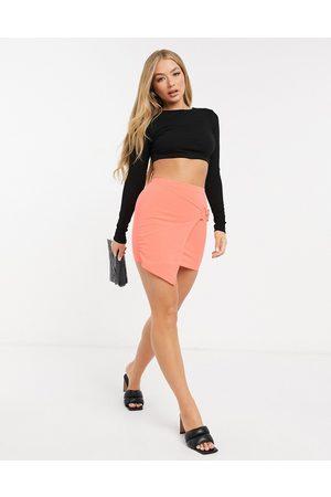 I saw it first Buckle asymmetric skirt in orange