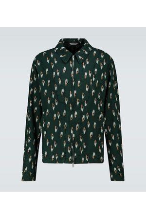 UNDERCOVER Hombre Abrigos de lana - Printed wool blouson jacket